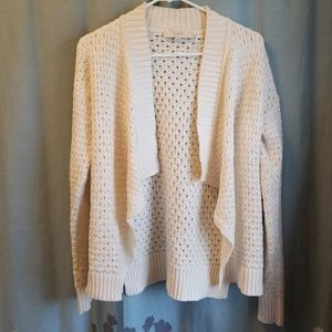 LOFT Open Weave Shawl Collar Cardigan